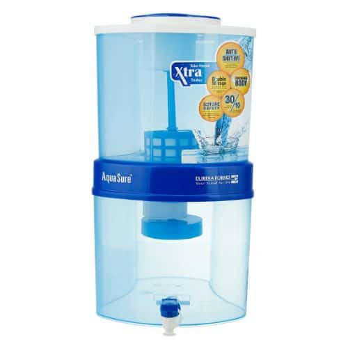 Eureka Forbes Aquasure from Aquaguard Amrit 20-Litre Water Purifier, Blue