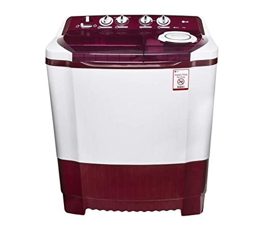 LG 8 Kg 5 Star Semi-Automatic Top Loading Washing Machine (P8035SPMZ, Purple)