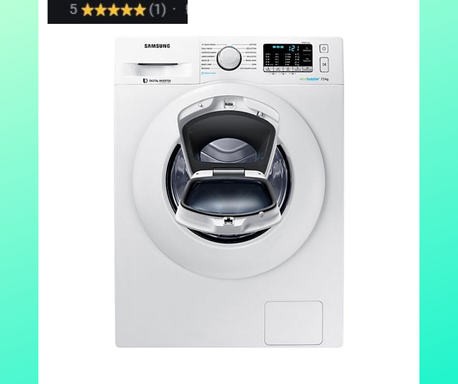 Samsung 6.0 Kg Fully-Automatic 5 Star Front Loading Washing Machine (WW60R20GLMA/TL, White)